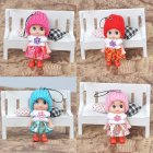 Cute Baby Diamond Dolls Pendant Bag Handbag Keychain Key Chain Ring Pendants Gift Toy random color