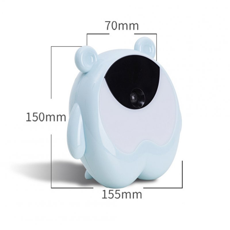 Cute Bear Shape Induction Alarm Clock with 7 Colors Change Light for Bedroom Living Room Office Sky blue (seven colors)
