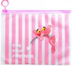Cute Big Capacity Pencil Case Stationery File Storage Bag with Ring Zipper