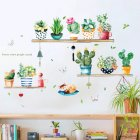 Cute Cactus Pattern Self Adhesive Wall Sticker for Living Room Bedroom Wardrobe Porch Decor HM71007