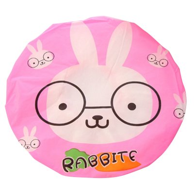 Cute Cartoon Shower Cap Resuable - Rabbit