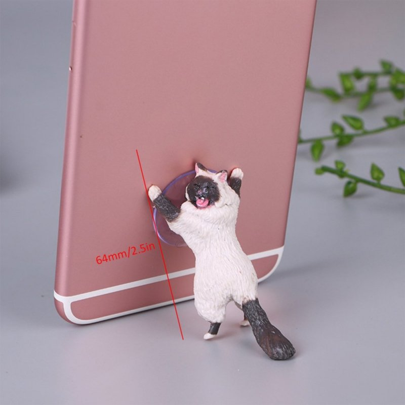 Cute Cartoon Cat Phone Holder Car Mount Sucker Bracket Universal for Sumsung Huawei LG iPhone X XS 8 7 6 white