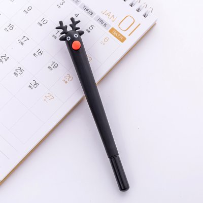 Cute Cartoon Deer Christmas Moose Gel Pen Black 0.5mm Gel Pen black_0.5mm