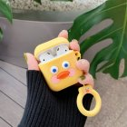 Cute Cartoon Earphone Case for Airpods Funny Sausage Mouth Duck Soft Silicone Earphone Case for Airpods   Yellow