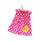 Newborn Baby SleevelessDress -Rose red pear