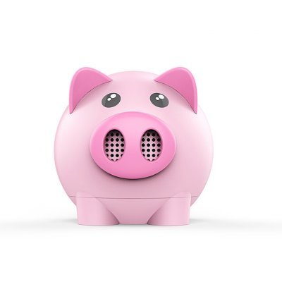 Wireless Cute Pig Bluetooth Speaker - Pink