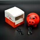 Wireless Cute Pig Bluetooth Speaker - Red
