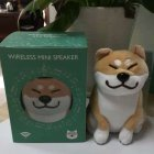 Cute Cartoon Plush Dog Wireless Bluetooth Speaker Stereo Super Bass Subwoofer Home Decoration Christmas Gifts Gold