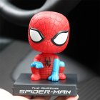 Cute Cartoon Shaking Heads Decoration Resin Decoration for Car Crafts Y-Spiderman_8*9*13 color box with car stickers
