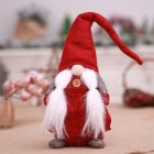 Cute Christmas Standing Doll Covered Face Doll for Christmas Holiday Parties Decoration