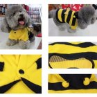 Cute Creative Bee Style Pet Velvet Coat Warm Sweater Clothes Wear for Pets M