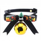 Cute Halloween Series Pet Bowknot Bell Collar for Cats Dogs Wear GBD E028 1 S