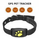Cute Lightweight GPS Dog Cat Pet Realtime Tracker GSM/GPRS Finder Locator Alarm Waterproof Collar black
