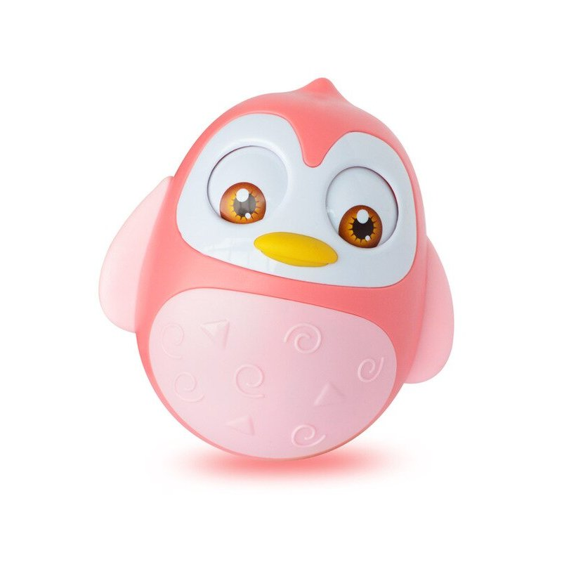 Cute Nodding Moving Eyes Tumbler Owl Doll Baby Rattles Toys For Children Tumbler Baby Toys 0-12 Months With Bell Gifts For Kids