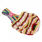 Cute Pet Stripes Printing Straps Physiological Pant for Dogs White orange green stripes_L