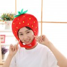 Cute Plush Headwear Strawberry Magic Stick Hat Photo Prop Funny Party Costume Gift Red