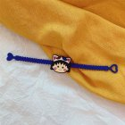 Cute Puppy Smile Face Silicone Bracelet Colorful Couple Wristband Hand Rope Gift Party 12
