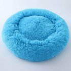 Cute Round  Macarons Shape Long Plush Pet Nest for Cat Dog Sleeping blue_large