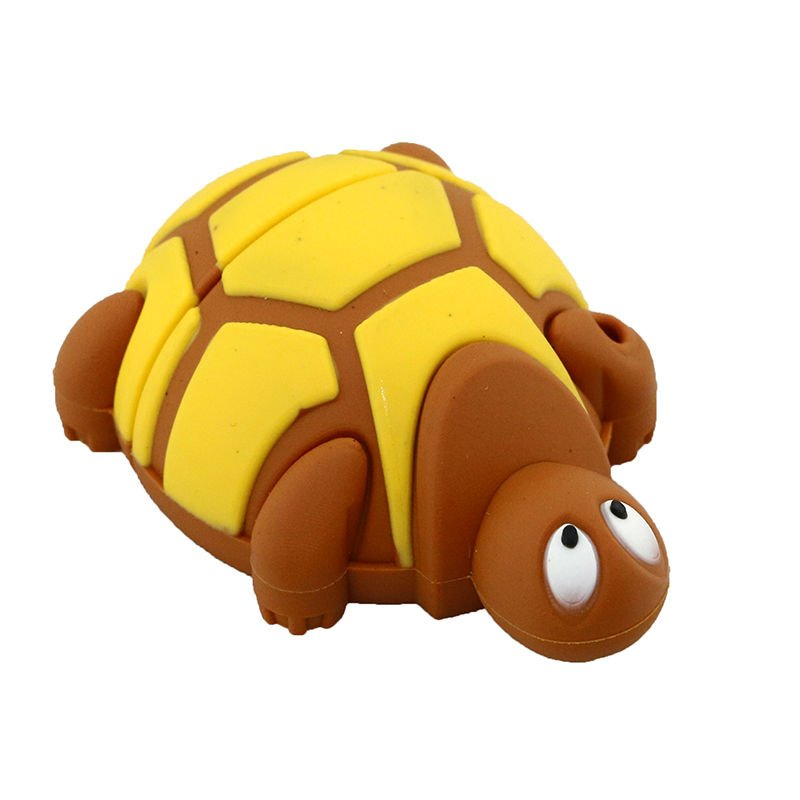 Cute Silicone Land Turtle U Disk Brown 16G