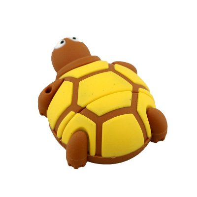 Cute Silicone Land Turtle U Disk Brown 64G