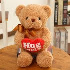 Cute Simulate Stuffed Heart-Holding Bear Pillow Plush Doll Toy Halloween Christmas Birthday Gift Ornament Wedding Party