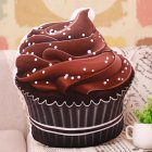 Cute Simulated Chocolate Ice Cream Cone Pillow Plush Toys Soft Doll Gifts for Adults   Children