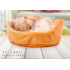Cute Soft Pet Dog Cat Bed Warm Round Kennel Pet Mat Breathable Fade Proof Suitable for Four Seasons blue