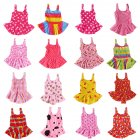 Cute Sweet Children Kids Girls One-piece Dress Swimsuit Random Color Random color_45#