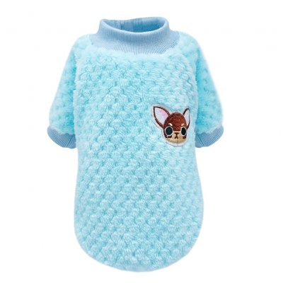 Cute Winter Dog Sweatshirt Casual Pajamas Jacket Coat for Small Dogs  Chihuahua Pug Puppy Clothes - Blue S Size