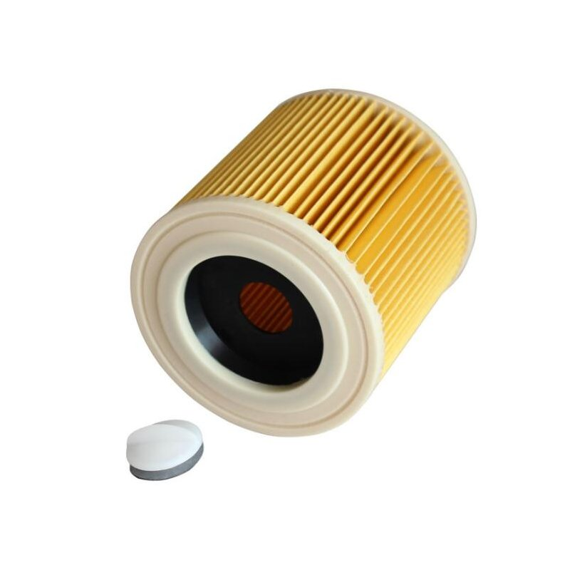 Cylindrical Filter Element for Karcher A2004 A2054 WD2.250 Vacuum Cleaner Accessories yellow