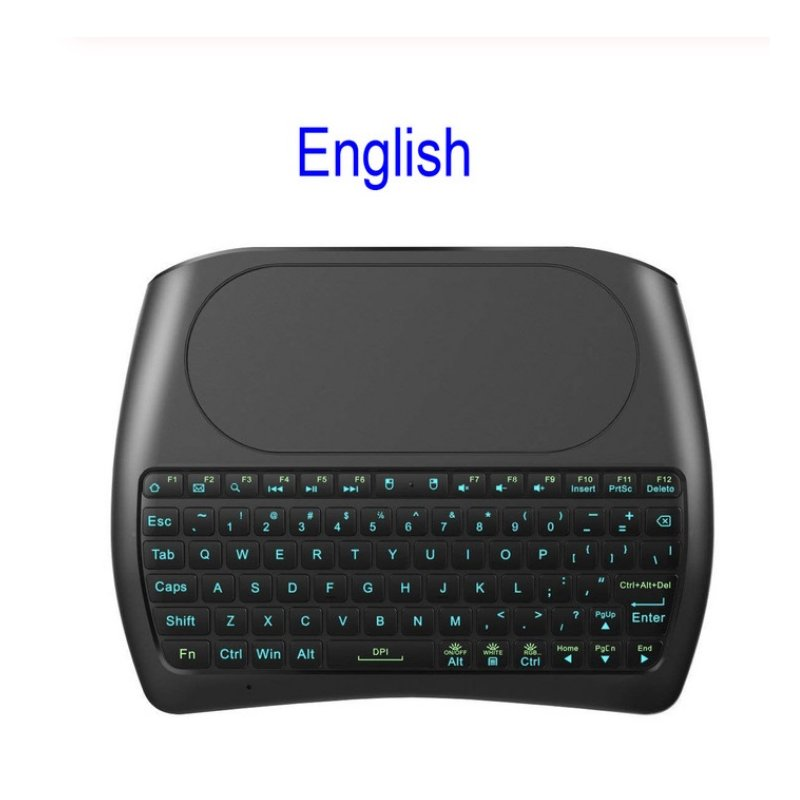 D8 Pro Wireless keyboard 2.4GHz Mini Keyboard Wireless Air Mouse Touchpad 7-color Backlit for Android TV BOX English