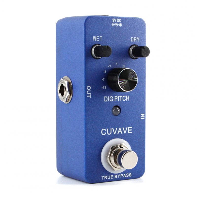 DIG Digital Harmonising Pitch Shift Guitar Effects Pedal Looper Recording Delay Overload Reverberation Guitar Effect Pedal Stompbox blue