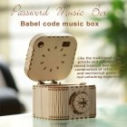 DIY 3D Treasure Box Music Box Wooden Puzzle Model Toy Kids Adult Gift 3D Wooden Handmade DIY Password Music Box 2007