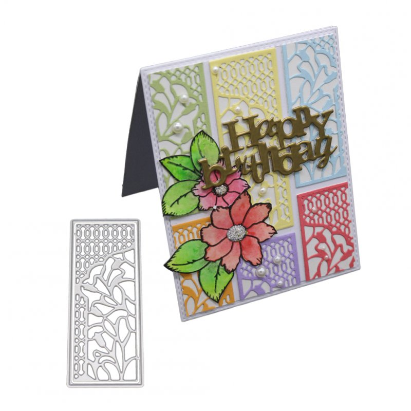 DIY Cutting Die Etched Carbon Steel Mold for Scrapbook Flower Background/Invitation Lace/Greeting Card Decor 1805538
