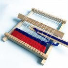 DIY Hand-Knitting Wooden Loom Toys Children Weaving Machine Interllectural Development Technology Production DIY loom