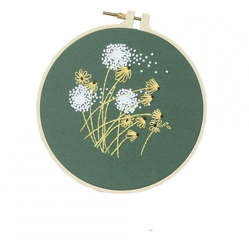 DIY Printed Embroidered Cloth+Thread Board+Special Embroidered Needle+High-definition Drawing Set 5 # (no Embroidery hoop)