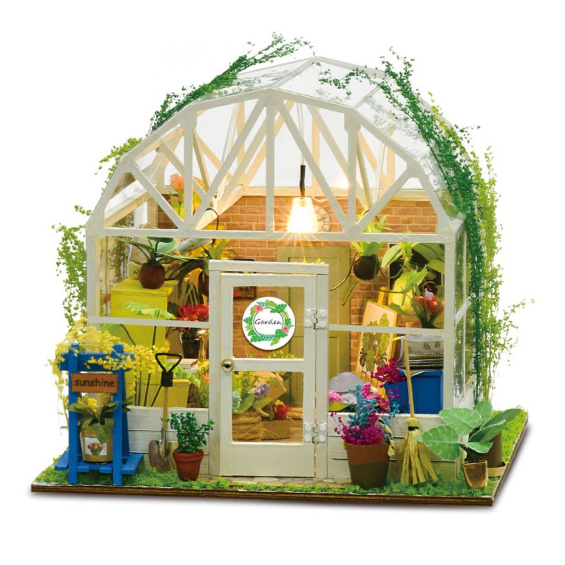 DIY Romantic Flower House Cabin Assembly Building Model Toy Set with Light 3001