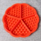 DIY Silicone Mold for Baking Waffle Cookie Cake Muffin Kitchen Tool 5 cavity love section 51068