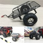 DIY Simulate RC Crawler Metal Drag Hitch Mount Tow Trailer for 1 10 RC CAR D90 SCX10 CC01 TRX 4