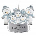 DIY Snowman Hanging Ornament Pendant for Family Blessings Christmas Tree Decor Five snowmen