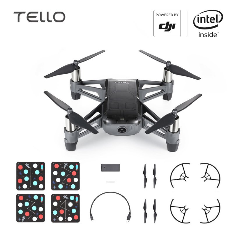 DJI Tello EDU Boost Combo Mini Drone Perform Flying Stunts Shoot Video with EZ Shots Toy Plane 1 battery
