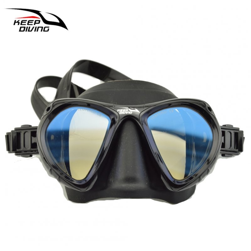 DM406+SN506 Professional Full-dry Snorkeling Mask Foldable for adult Scuba Diving Mask black_Colorful single lens eyeglass