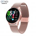 DT88 Women Waterproof Smart Watch Music Heart Rate Altitude Full Touch Screen Bluetooth Wristwatch K gold steel band