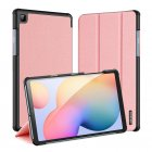 DUX DUCIS For Samsung Galaxy Tab S6 Lite Leather Shell Full Protection Smart Stay Case  Pink