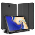 DUX DUCIS For Samsung TAB S4 10 5 Simple Solid Color Smart PU Leather Case Anti fall Protective Stand Cover with Pencil Holder Sleep Function