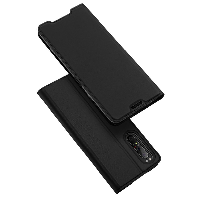 DUX DUCIS For Sony Xperia1 II/Xperia10 II Leather Mobile Phone Cover Magnetic Protective Case Bracket with Cards Slot black_Sony Xperia1 II