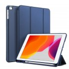 DUX DUCIS For iPad pro 7 10.2Inches 2019 PU Leather +TPU Back Shell Full Protective Case with Pen Holder blue