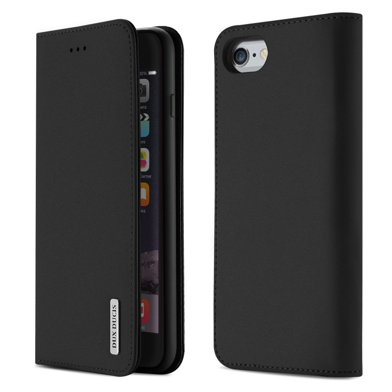 DUX DUCIS For iPhone 6 plus / 6s plus Luxury Genuine Leather Magnetic Flip Cover Full Protective Case with Bracket Card Slot black