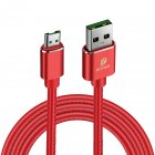 DUX DUCIS K-MAX MICRO PU Data Line Sync Data Charging Charger Cable red