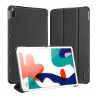 DUX DUCIS for HUAWEI MatePad 10.4 Fall Resistant Leather Protective Case Smart Stay Cover black